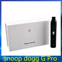 Snoop Dogg g de proteínas Negro Escala G Pro joya de hierbas secas de hierbas vaporizador Starter Kit cigarrillo electrónico VS camo DGK G pro 0211196-1
