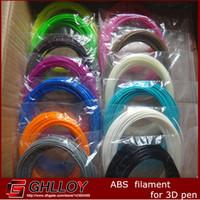 Wholesale 5 Colors Sample d printing pen filament ABS mm D Printer plastic Material MakerBot RepRap UP Mendel