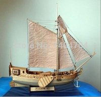Wholesale The Dutch royal yacht Classics wooden Assembly sailboat model