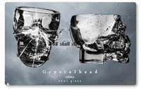 Wholesale Doomed Crystal Skull Shot Glass Skull Head Whiskey Vodka Shot Glass Creativity Drinkwares oz ml
