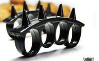 Wholesale QTY SPARTA WARRIOR SPIKES BRASS KNUCKLE DUSTER SILVER Gold black Rose Gold