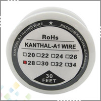 wire - High quality Kanthal A1 Resistance Wire Feet Spool awg Gauge Heating Wire fit DIY RDA RBA Atomizer DHL Free