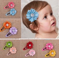 Wholesale colors polygonal sunflowers edging lovely princess BB clips children clips