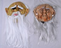 Environmental protection emulsion funny April Fool's Day 369M 10pcs Grandma Grandpa Witch lover halloween Costume Dance mask Cosplay party mask funny latex show bar head gear accessories