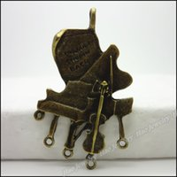 Wholesale 18pcs Vintage Charms Piano Pendant Antique bronze Zinc Alloy Fit Bracelet Necklace DIY Metal Jewelry Findings