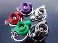 Wholesale CHROME TURBO CHARGER KEY CHAIN FOB HOOK BALL BEARING SPINNING TURBINE color Choice