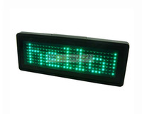 Wholesale Nightclub KTV Bar LED Name Badge Supports Text Input English and EU Language Green color x Pixels