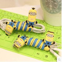 Wholesale By DHL Cute animals cable winder Mobile Earphone bobbin winder cable management in stock