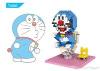 Wholesale new Doraemon Toilet Seat Building Blocks LOZ Limited Edition Mini Blocks Collection Intelligence Toys for Children DIY Gifts cfvu6