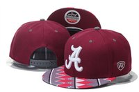 alabama cap - Top Quality Alabama Crimson Tide NCAA College Football Caps Fashion Cotton Brand Star Wars Snapback Caps Cool Strapback Letter Baseball Hats
