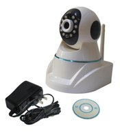 Wholesale 2015 New G TF Card P2P Motion Detection DC5V A IR Distance m Wifi IP Robot Cameras With IRCUT Baby Monitor