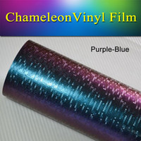 airs textured - 1 x30m x98FT Purple Blue Textured chameleon Mosaic Air Vehicle Wrap Vinyl Sticker Decal Car Vinyl Wrap for vehicle wrapping