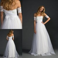 gypsy wedding dresses - Bohemian Lace Wedding Dresses with Sleeves Dreamy Skirt Strapless Hippie Wedding Gowns with Lace Arm Bands Gypsy Girl Boho Bridal Dress