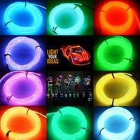 flexible neon light strip - 2015 HOT M Flexible Neon LED Light Glow EL Wire String Strip Rope Tube Car Dance Party Controller Decorative Strip Lights n687