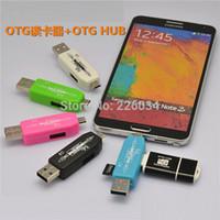 android smart hub - NEW OTG smart Card Reader hub Adapter For Android Smart phonea and PC OTG Card reader TF Micro SD card USB hub