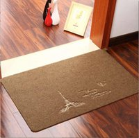 Wholesale The Eiffel Tower floor mat home door mat kitchen household carpet bath mat balcony floor mat