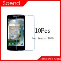 Cheap 10Pcs Lot Tempered Glass Screen Protector For Lenovo Lenova A820 A 820 A820T A820 T A 820T Protective Cover Film Mobile Phone Accessories