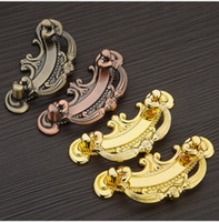 Wholesale Express free high quality Red bronze antique copper Zinc alloy door handle pull for cabinet kitchen drawer pitch row mm