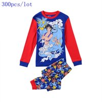 aladin pants - Wholesale2015 New Baby boys Cartoon Lamp of Aladin pajamas outfits t shirt pant sleep wear
