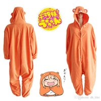Wholesale New Japan Anime Himouto Umaru chan Umaru Doma Cosplay Costume Woodchuck Onesies Sleepwear Jumpsuits Daily Leisure Wear QMY001