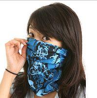Wholesale HOT Multifunctional Balaclava Half Face Mask Scarf Variety Magic Hat Wristband Motorcycle Ski CS Veil Headscarf Face Mask