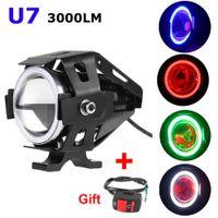 Cheap Gift + Switch 1pcs Devil Eye 12-80V CREE U7 Universal LED Car DRL Motorcycles Driving Headlights Fog Lights Daytime Running Light Spotlight