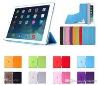 Cheap iPad6 Air2 Fold Magnetic Smart Cover + Matte Back Case For iPad Air 2 3 4 5 6 iPad Mini Mini2 Retina Folding Case With Auto Sleep Wake