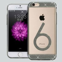 apple numbers - Number Pattern Glitter Bling Soft TPU Gel Rubber Flexible Transparent Clear Case Cover Skin For iPhone S inch Free DHL MOQ