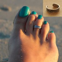 band toe ring - pc Boho Beautiful Exqusite Silver Plated Adjustable Toe Ring Foot Jewelry