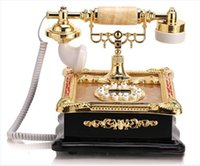 Wholesale Retro Fashion antique telephone caller id fitted songzanganbu bookpass telefone antigo landline cored desk home telephone