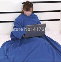 Wholesale 2014 New Style Supper Home Winter Warm Fleece Snuggie Blanket Robe Cloak With Sleeves