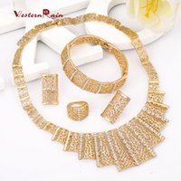 asian clothes - WesternRain Valentine s Day gift gilded Dubai fashion jewelry necklace bracelet suits for women s wedding jewelry clothing A110