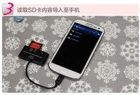 android usb pc connection - 3 in OTG SD Micro SD Card Reader Micro USB Port HUB Connection Kit SG for Android Mobile Phone PC Up