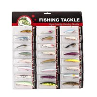 Cheap Hot Sale 24Pcs Fishing Lure Metal Hook Minnow Hard Baits Set Tackle Pesca Mixed Color Size Weight