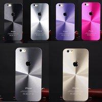 plastic cd covers - For iPhone i6 Plus Luxury CD Grain Aluminum Plastic Hard Case Cover Cases Shell for iPhone6 i6 quot plus quot