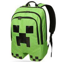 Wholesale Minecraft Creeper School Backpack Waterproof Book Bag Sports Storage Xmas Gift