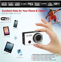 Wholesale DHL Hotsale Best WiFi DV Camcorders MP Full HD P Underwater Action Sport Camera CAM WiFi DV Camcorder WDV5000