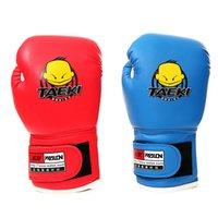 kids boxing gloves - Age5 Kids Children Cartoon MMA Kick Fight Boxing Gloves Training Accessories
