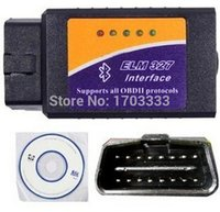 Wholesale Auto OBD Scan Tool Code Reader OBD2 Elm327 Elm Bluetooth Interface Latest V1 On Android For All OBDII Cars Freeshipping