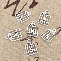 antique birdcage - 300pcs Charms bird birdcage mm Antique Zinc alloy pendant fit Vintage Tibetan Silver DIY for bracelet necklace