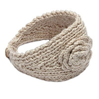 Wholesale IMC Women Crochet Knit Flower Headband Ear Warmer Hair Accessories mm order lt no track