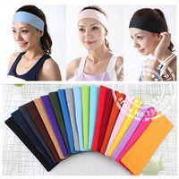 Wholesale DHL FEDEX UPS New Cotton168PCS Yoga Sports Headband Women Stretch Turban Wide Hairband Hair Accessory A3698