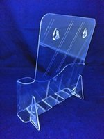 brochure holder - Clear A4 Single Pocket Plastic Brochure Literature Display Holder Racks Stand To Insert Leaflet on Desktop