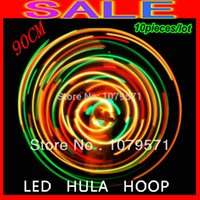led hula hoop - EMS promotion pieces Brand New Led hula hoops fitness sports glowing hoops cm