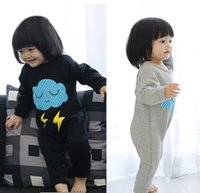 Wholesale Newborn Romper Baby Clothes Girls Baby Clothing Grey Hide Blue Colors Sets Clothes Fashion Hot Sale