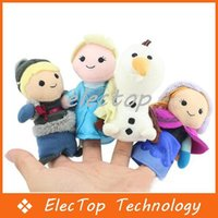 Wholesale Christmas Cartoon Frozen Finger Puppet Stuffed Toys Hand Dolls Flush Of Olaf Kristoff Anna Else