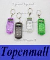 Wholesale hot Fashion Cute Mini Pocket Calculator Keyring Key Chain Portable calculator Mixed Random Colors