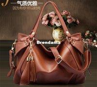best handbag wholesale - 2014 new brand designer lady bag best quality tassel cow leather bag Luxury handbag tote ladies