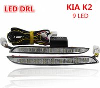 Wholesale Factory Direct sales LED DRL Daytime Running Lights for KIA K2 with fog lamp