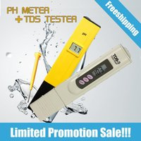 Wholesale Digital PH Meter TDS Tester Ph for drinking water tds meter tds tester ph meter digital PH tester pocket TDS water tester
